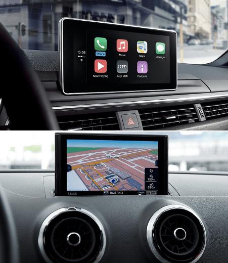 Audi Virtual Cockpit digital dashboard.
