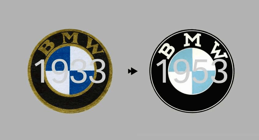 bmw logo 1933 1953