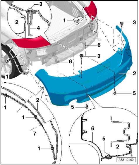 How to remove Audi TT 8J bumper - scheme