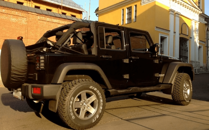 Jeep Wrangler without a roof
