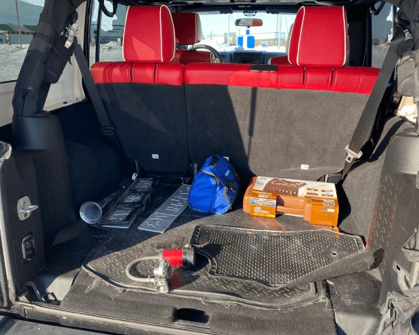 luggage compartment Jeep Wrangler